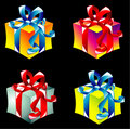 Gift boxes collecton Stock Photos