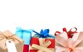 Gift boxes greetings day holiday Royalty Free Stock Image