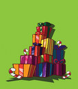 Gift boxes holidays christmas and boxs Royalty Free Stock Images