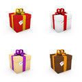 Gift boxes with I love you cards Stock Photography