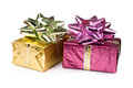 Gift boxes isolated Stock Image