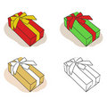 Gift boxes set vector Stock Photos