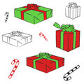 Gift boxes vector Stock Photos