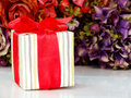 Gift boxs pressent with ribbon decorations Royalty Free Stock Photo