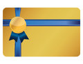 Gift card banner and ribbon Stock Photo