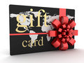 Gift Card Black Gold Royalty Free Stock Photo