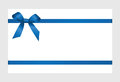 Gift Card With Blue Ribbon And A Bow