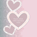 Gift card with copy space love heart label greet abstract white vintage on victorian background Royalty Free Stock Images