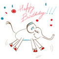 Gift card with elephant Royalty Free Stock Photography