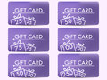 Gift card with a gift box. Realistic gift card with a gradient background. Royalty Free Stock Photo
