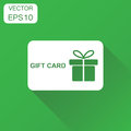 Gift card icon. Business concept discount pictogram. Vector illu Royalty Free Stock Photo