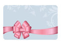 Gift Card With Pink Ribbon And A Bow
