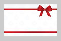 Gift Card With Red Ribbon And A Bow