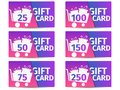 Gift card set. Trolley with gift boxes. Shopping cart. Vector