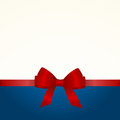 Gift Card with Shiny Red Satin Gift Bow Close up