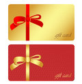 Gift card vector illustration of two type of cards Stock Photography