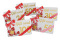 Gift cards, 3D rendering Royalty Free Stock Photo