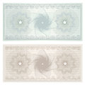 Gift certificate (Voucher, coupon). Pattern Royalty Free Stock Photo
