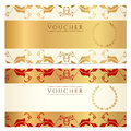 Gift certificate (Voucher, coupon) template Royalty Free Stock Photo