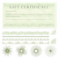 Gift certificate (voucher) template with borders Royalty Free Stock Photo