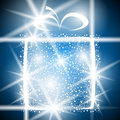 Gift christmas winter shiny abstract box greeting Royalty Free Stock Image