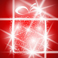 Gift christmas winter shiny abstract box greeting Royalty Free Stock Photo
