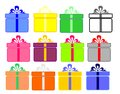 Gift collection Royalty Free Stock Photos