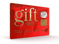 Gift credit card clipping path included image with Stock Photography