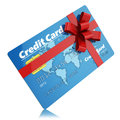 Gift credit card isolated on white background Stock Photo