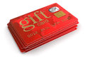 Gift credit cards clipping path included image with Royalty Free Stock Photography