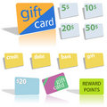 Gift Credit Debit Bank Cards Royalty Free Stock Photo