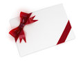 Gift d isolated with red bow Royalty Free Stock Photos