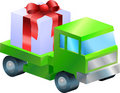 Gift delivery illustration Stock Photography