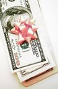 Gift dollars Royalty Free Stock Photo