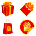 Gift elements. Stock Images