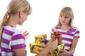 Gift giving Royalty Free Stock Photo