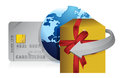 Gift, globe and credit card retail concepts Stock Photo