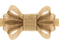 Gift gold bow isolated on white background Stock Photos