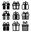 Gift icon Royalty Free Stock Photo