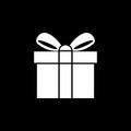Gift Icon Isolated on black Background