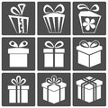 Gift icon set Royalty Free Stock Images