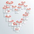 Gift icon vector with shadow Royalty Free Stock Photo