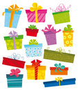 Gift icons Royalty Free Stock Photos