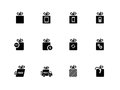 Gift icons set on white background. Royalty Free Stock Photos
