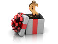 Gift with money Stock Images