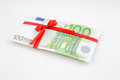 Gift of money for celebration eurozone currency Stock Photo