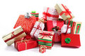 Gift pile Royalty Free Stock Image
