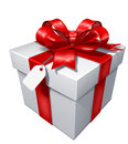 Gift present with red bow Stock Photography