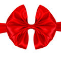 Gift red bow isolated on white background Royalty Free Stock Photo