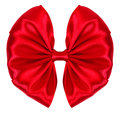 Gift red bow isolated on white background Stock Photography